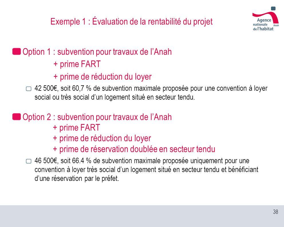Exemple 1 : Évaluation de la rentabilité du projet