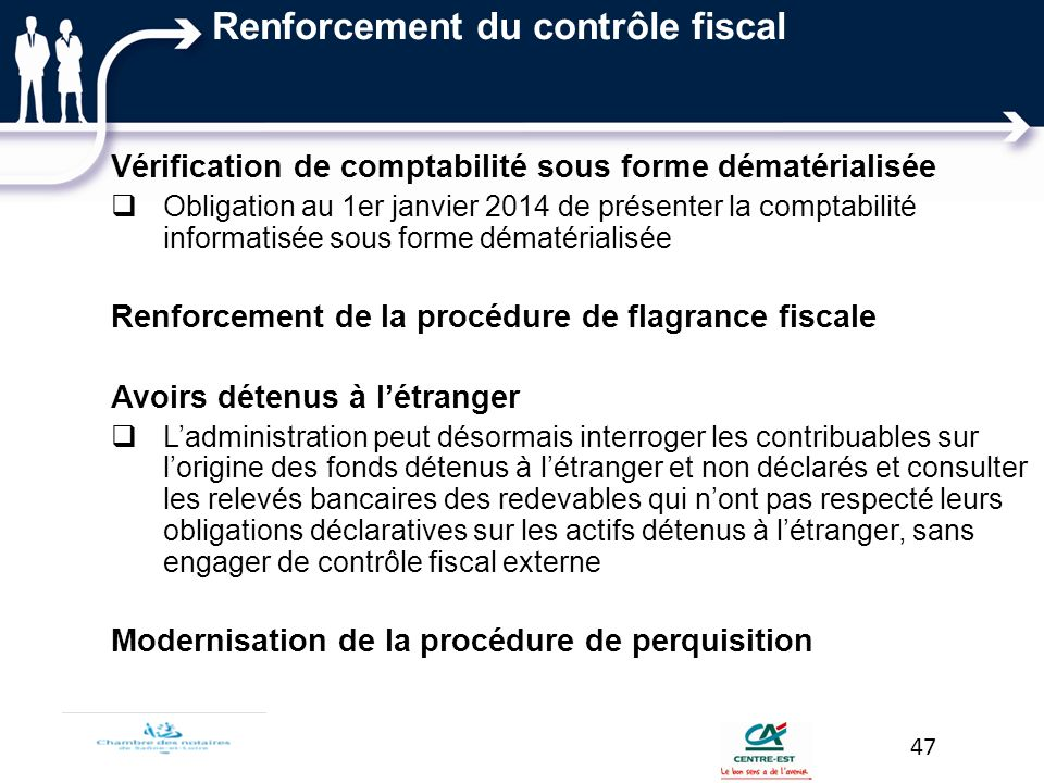 Renforcement du contrôle fiscal