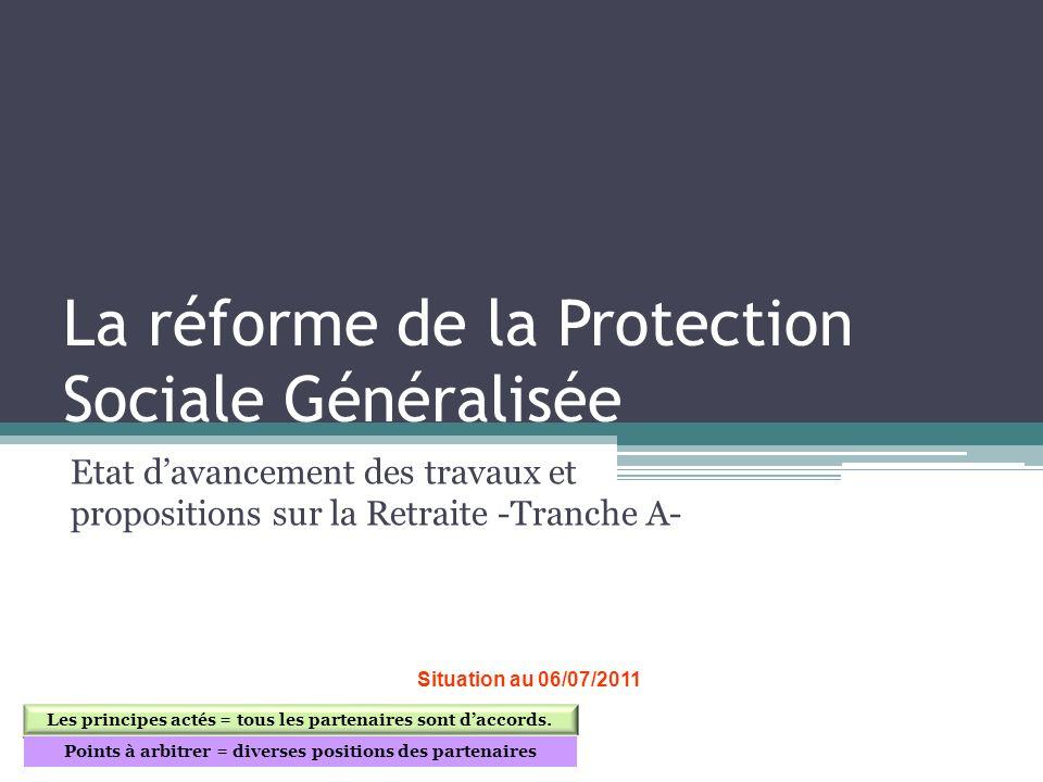 La réforme de la Protection Sociale Généralisée