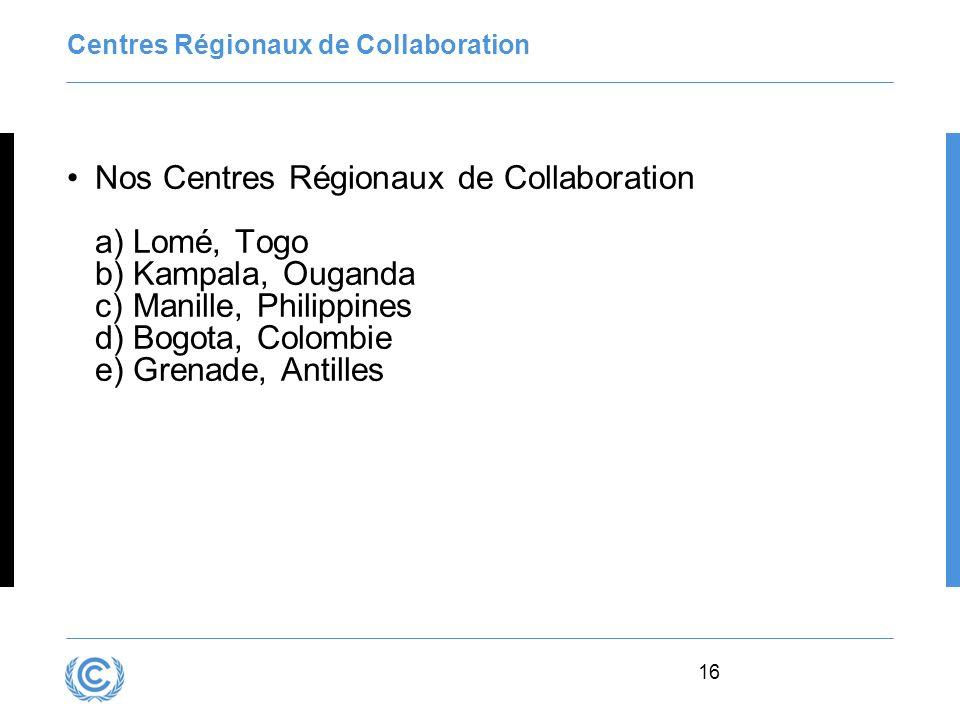 Centres Régionaux de Collaboration