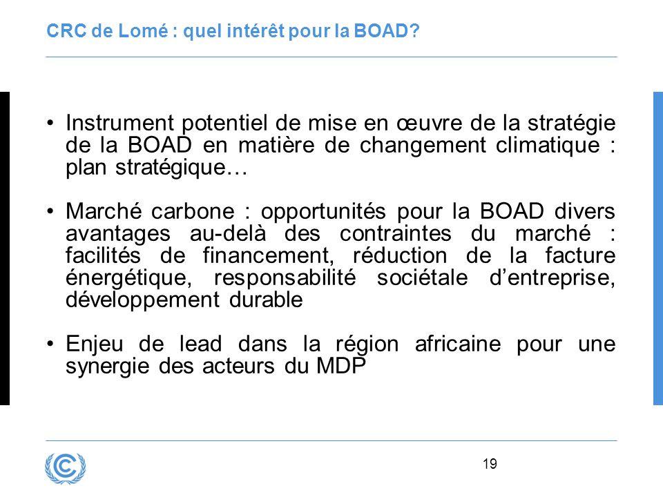 CRC de Lomé : quel intérêt pour la BOAD