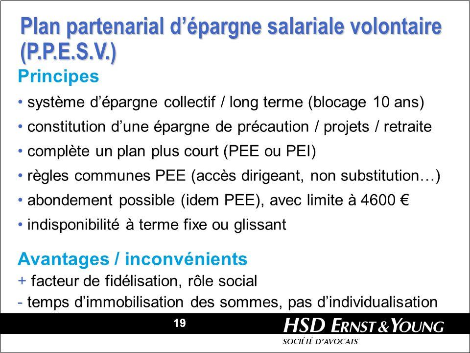 Plan partenarial d'épargne salariale volontaire (P.P.E.S.V.)
