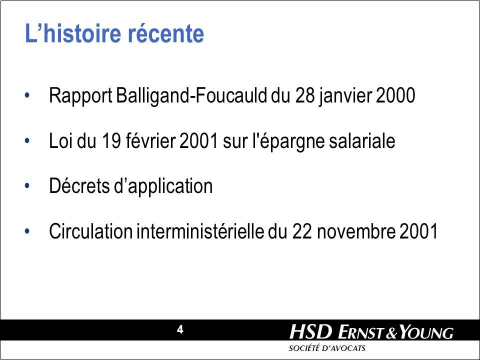 L'histoire récente Rapport Balligand-Foucauld du 28 janvier 2000