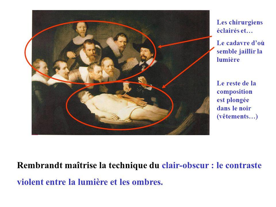 Rembrandt maîtrise la technique du clair-obscur : le contraste