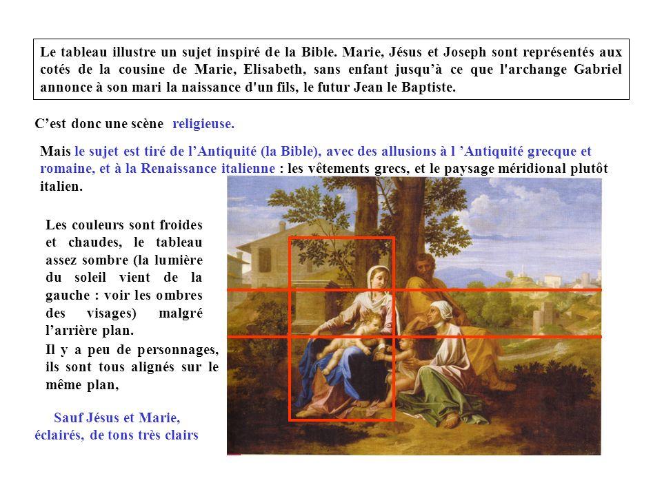 Sauf Jésus et Marie, éclairés, de tons très clairs