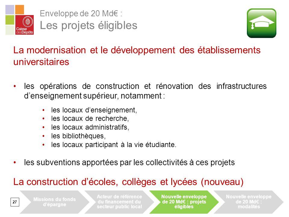 La modernisation et le développement des établissements universitaires