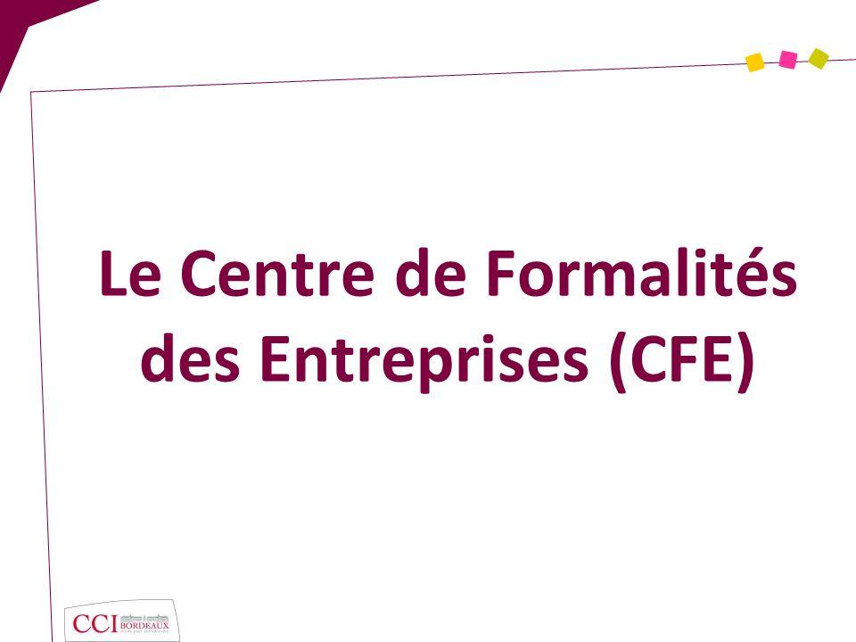 Le Centre de Formalités des Entreprises (CFE)