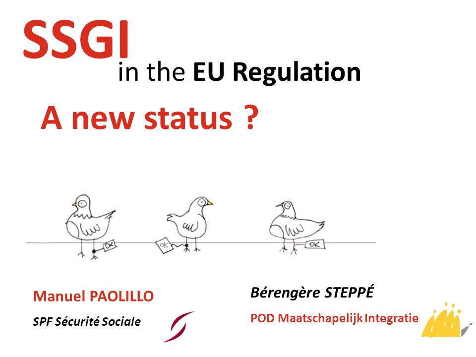 SSGI A new status in the EU Regulation Bérengère STEPPÉ