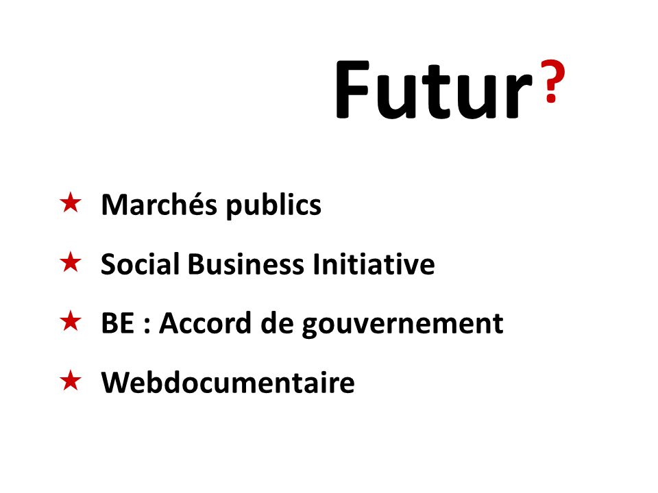Futur Marchés publics Social Business Initiative