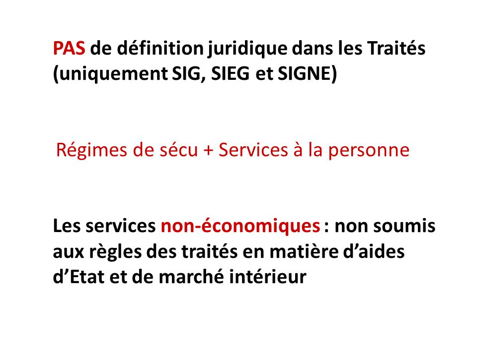 Régimes de sécu + Services à la personne
