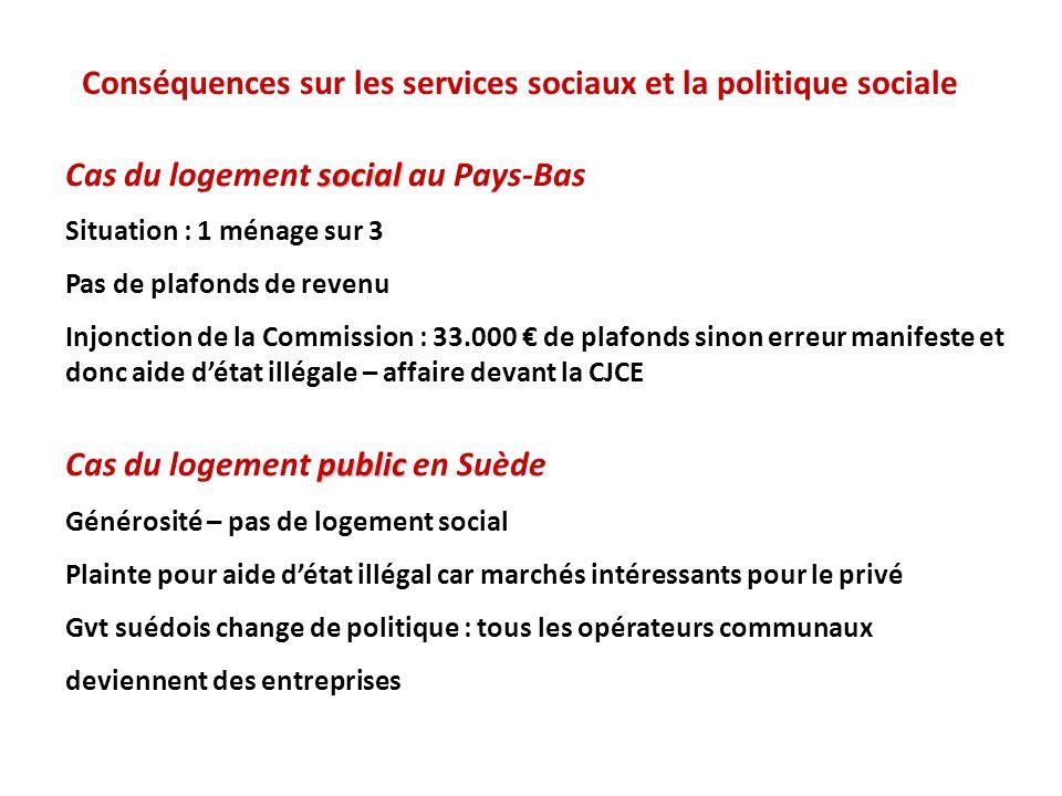 Conséquences sur les services sociaux et la politique sociale