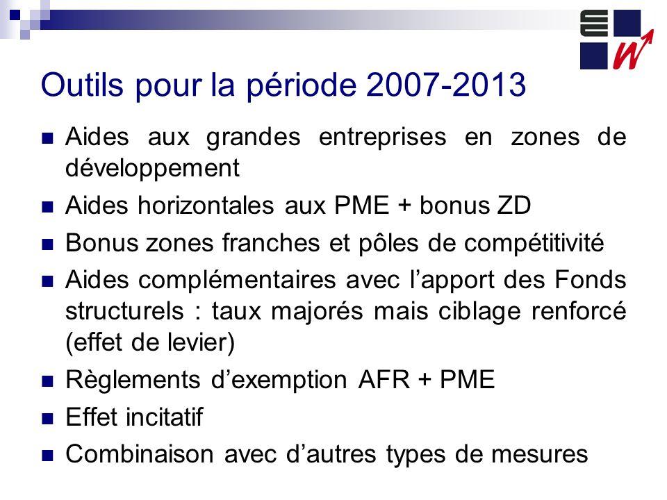 Outils pour la période 2007-2013