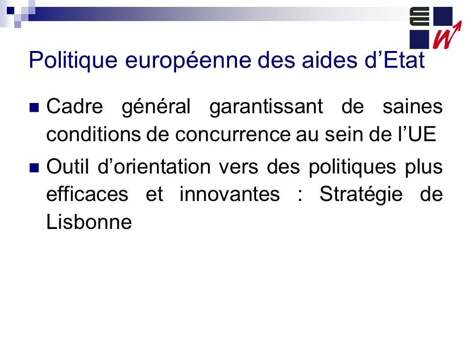 Politique européenne des aides d'Etat