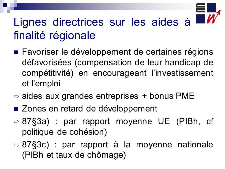 Lignes directrices sur les aides à finalité régionale