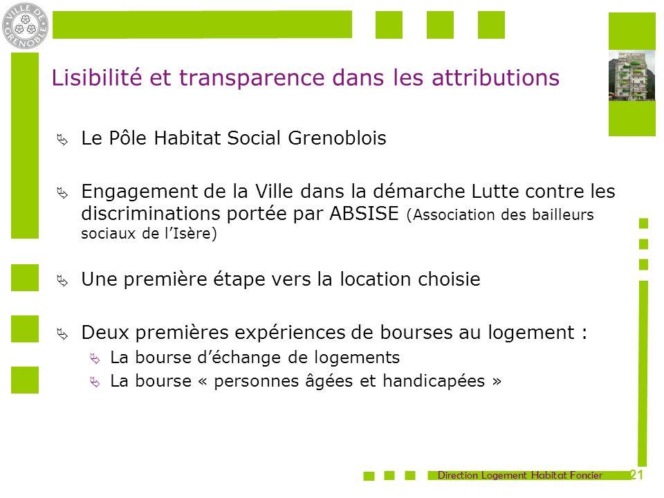 Lisibilité et transparence dans les attributions