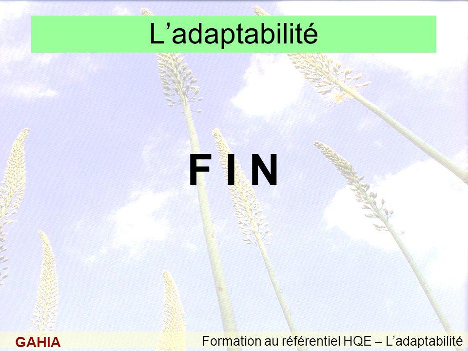 L'adaptabilité F I N