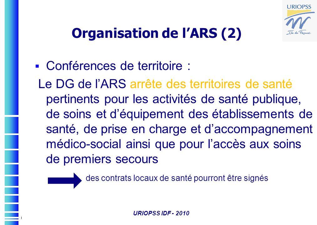 Organisation de l'ARS (2)