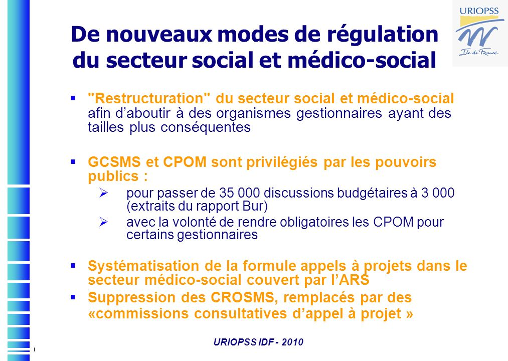 De nouveaux modes de régulation du secteur social et médico-social