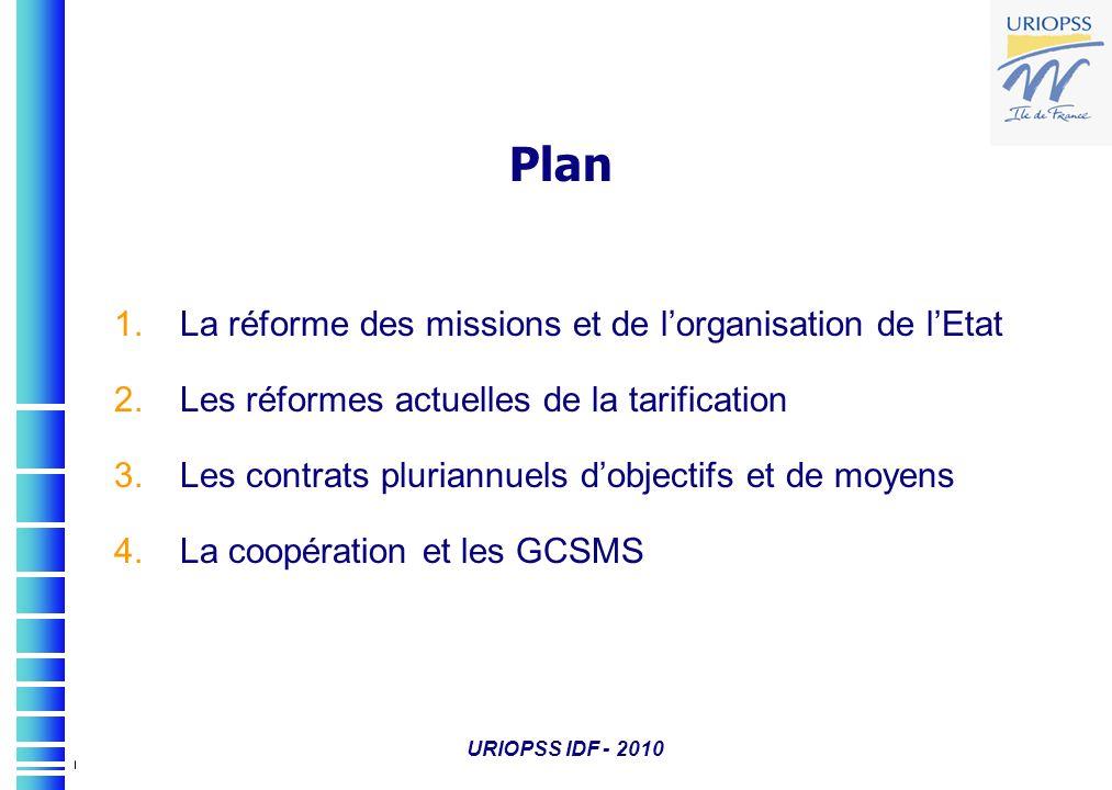 Plan La réforme des missions et de l'organisation de l'Etat