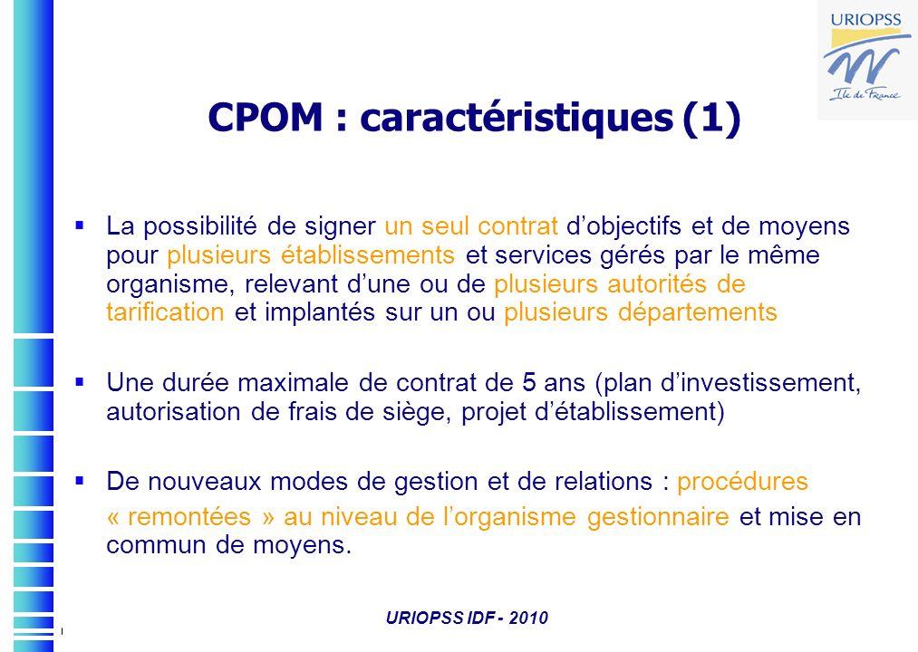 CPOM : caractéristiques (1)
