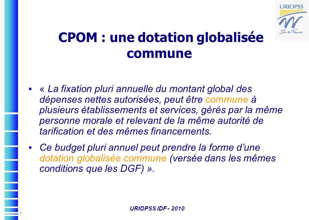 CPOM : une dotation globalisée commune
