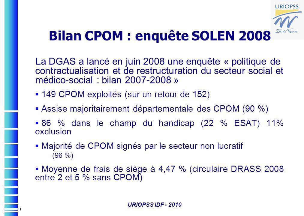 Bilan CPOM : enquête SOLEN 2008