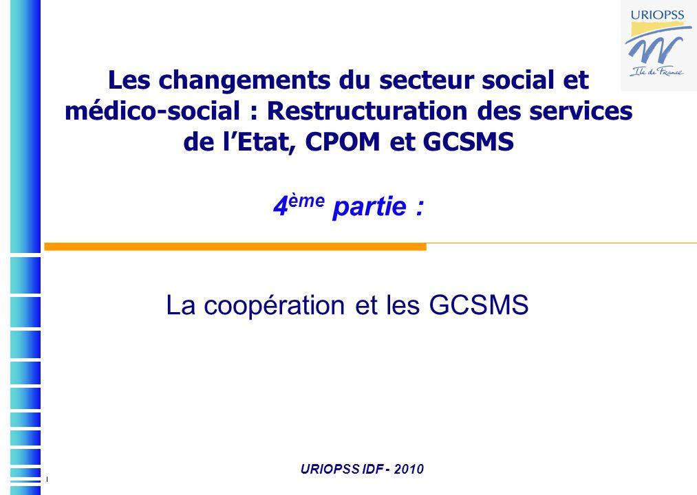 4ème partie : La coopération et les GCSMS
