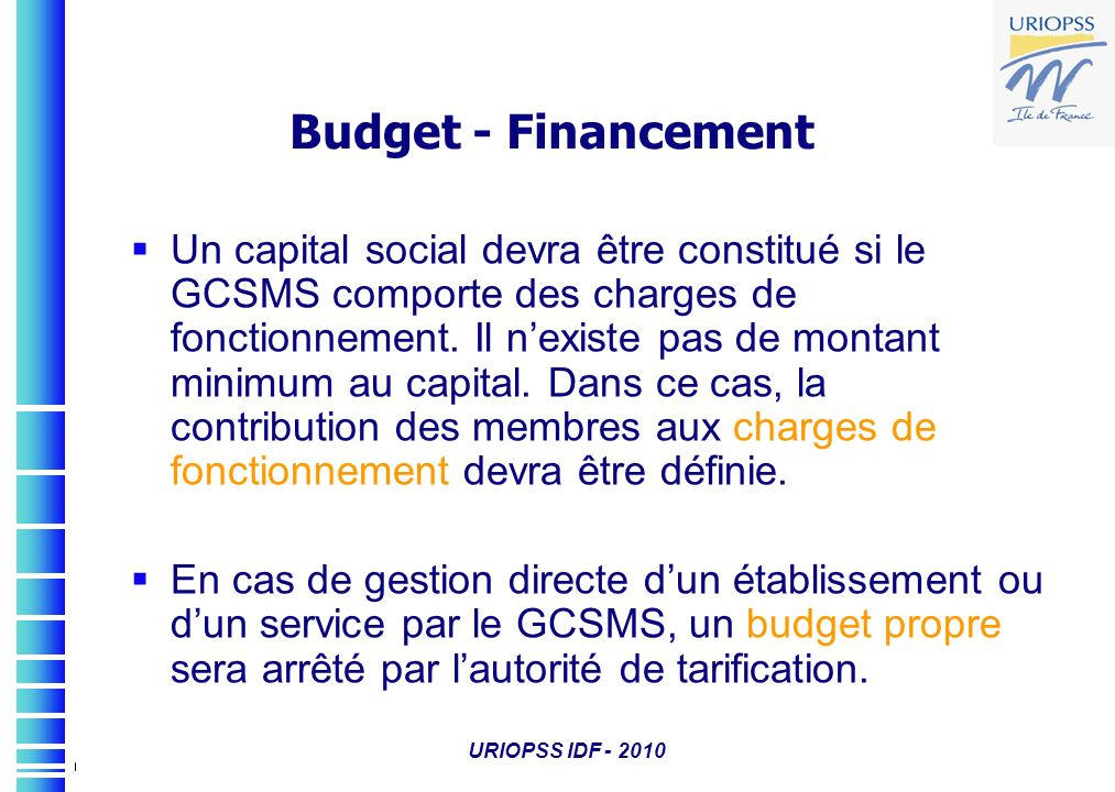 Budget - Financement