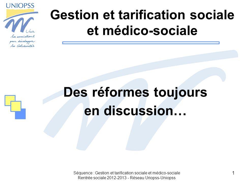Gestion et tarification sociale et médico-sociale