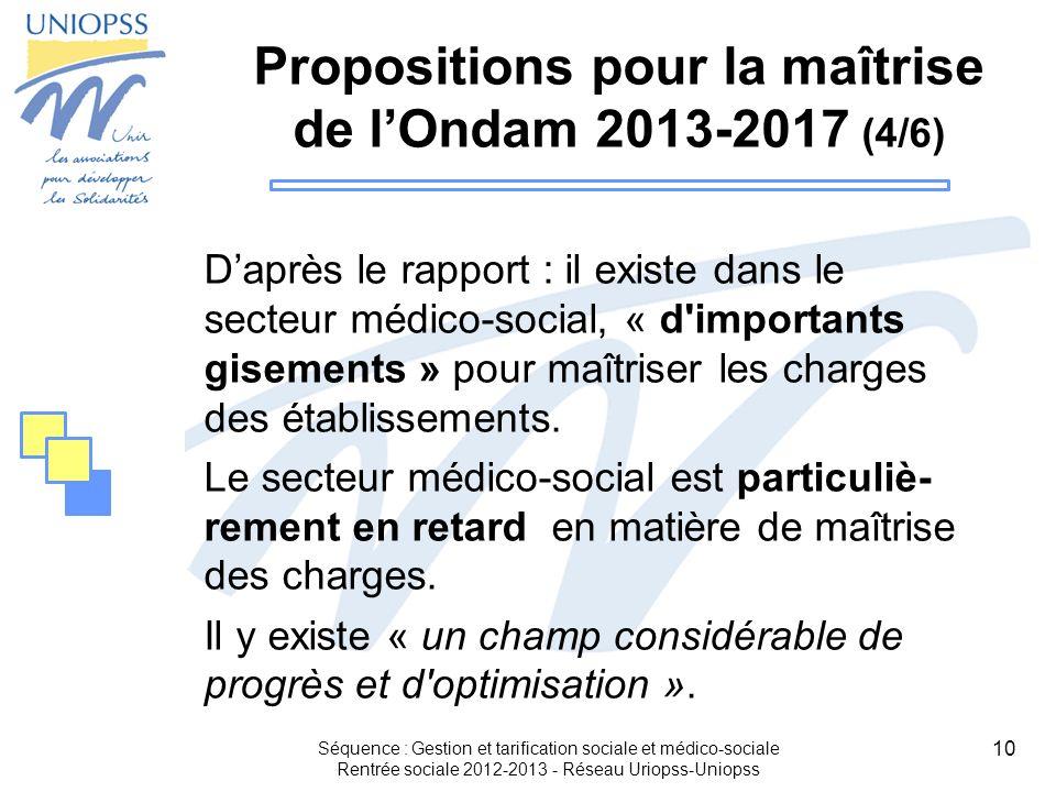 Propositions pour la maîtrise de l'Ondam 2013-2017 (4/6)
