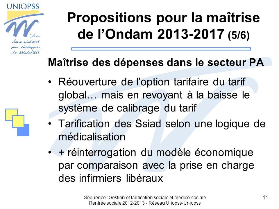 Propositions pour la maîtrise de l'Ondam 2013-2017 (5/6)