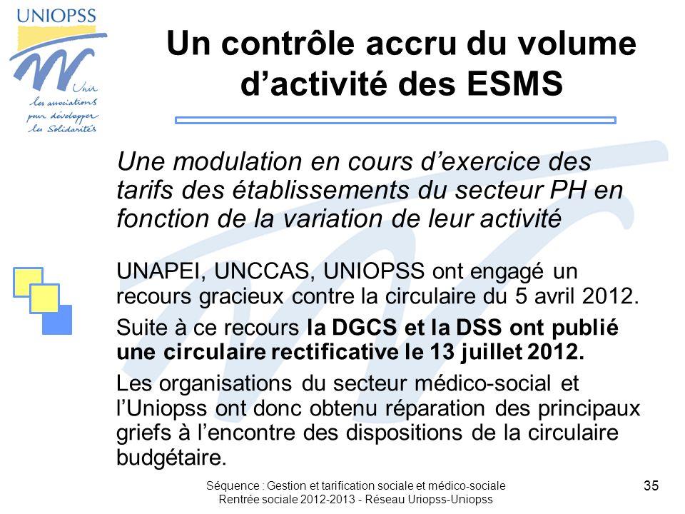 Un contrôle accru du volume d'activité des ESMS
