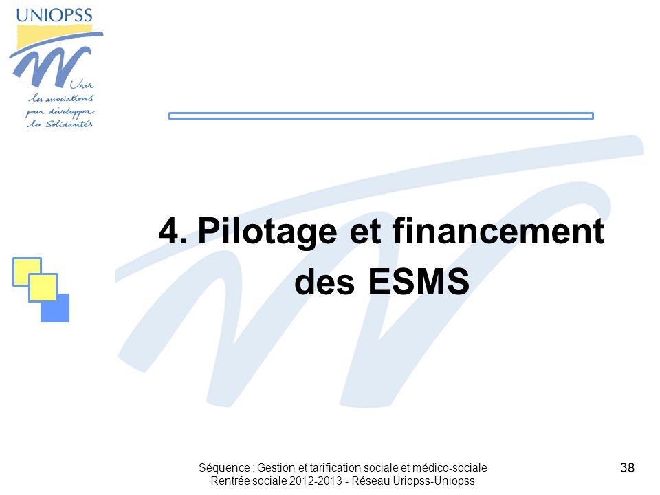 Pilotage et financement