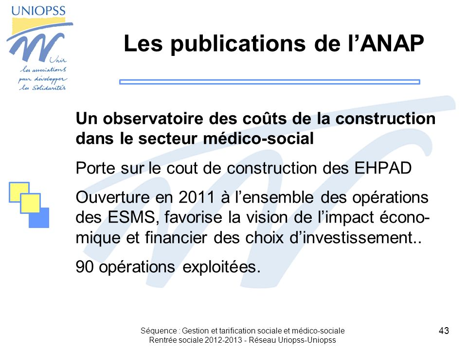 Les publications de l'ANAP