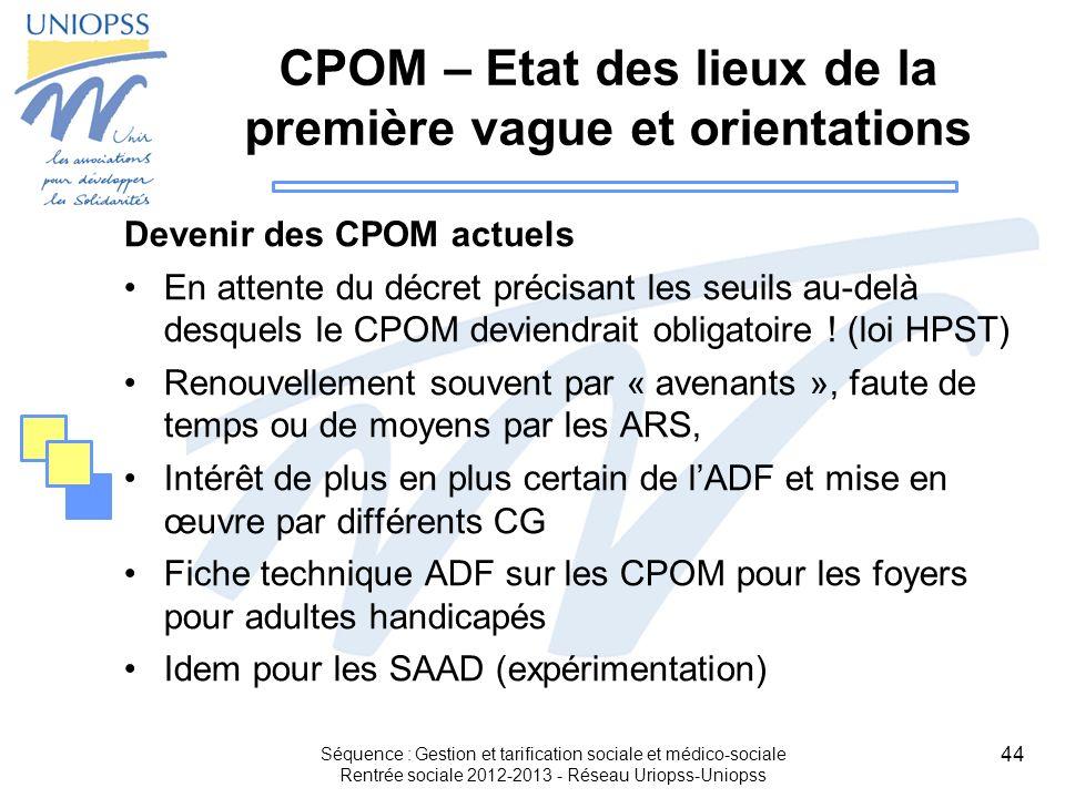 CPOM – Etat des lieux de la première vague et orientations