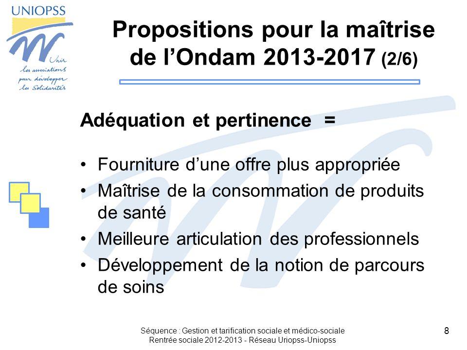 Propositions pour la maîtrise de l'Ondam 2013-2017 (2/6)