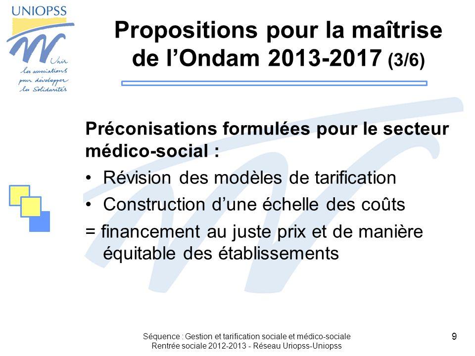 Propositions pour la maîtrise de l'Ondam 2013-2017 (3/6)