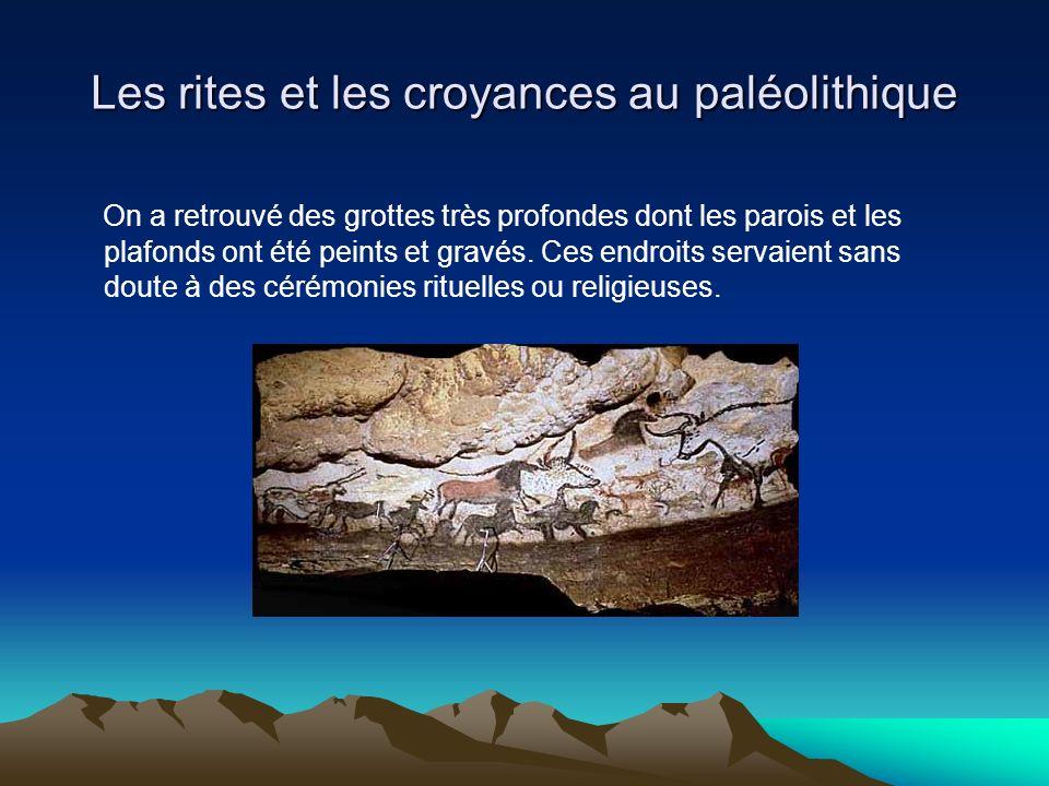 Les rites et les croyances au paléolithique