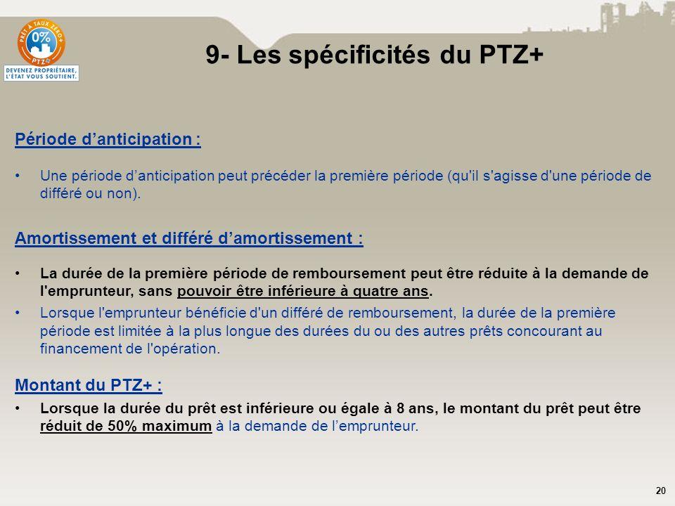 9- Les spécificités du PTZ+