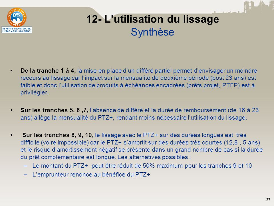 12- L'utilisation du lissage Synthèse