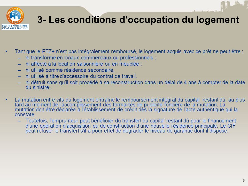 3- Les conditions d occupation du logement