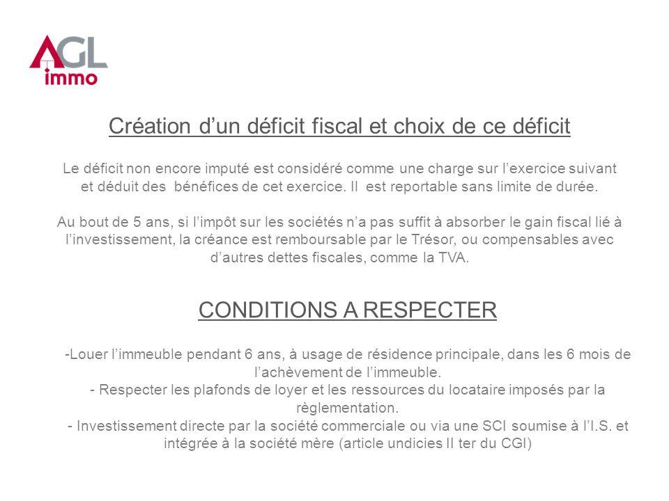 Création d'un déficit fiscal et choix de ce déficit