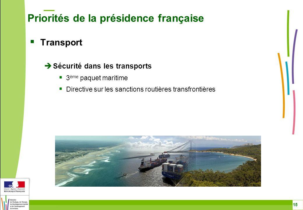 Priorités de la présidence française