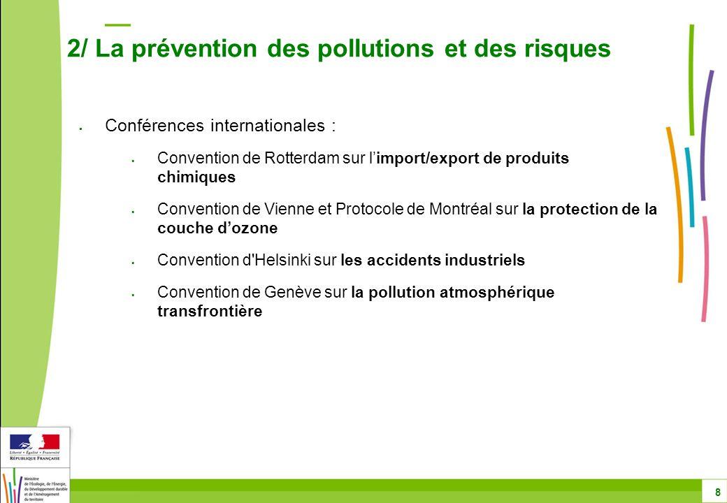 2/ La prévention des pollutions et des risques