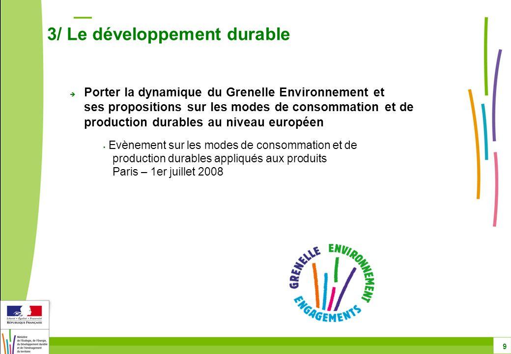 3/ Le développement durable