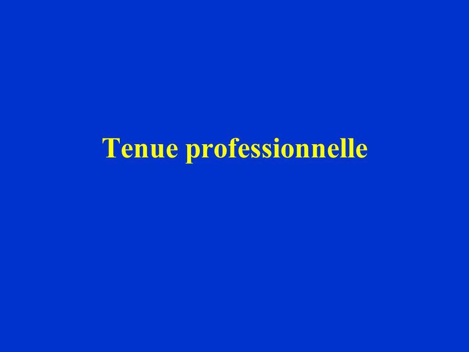 Tenue professionnelle