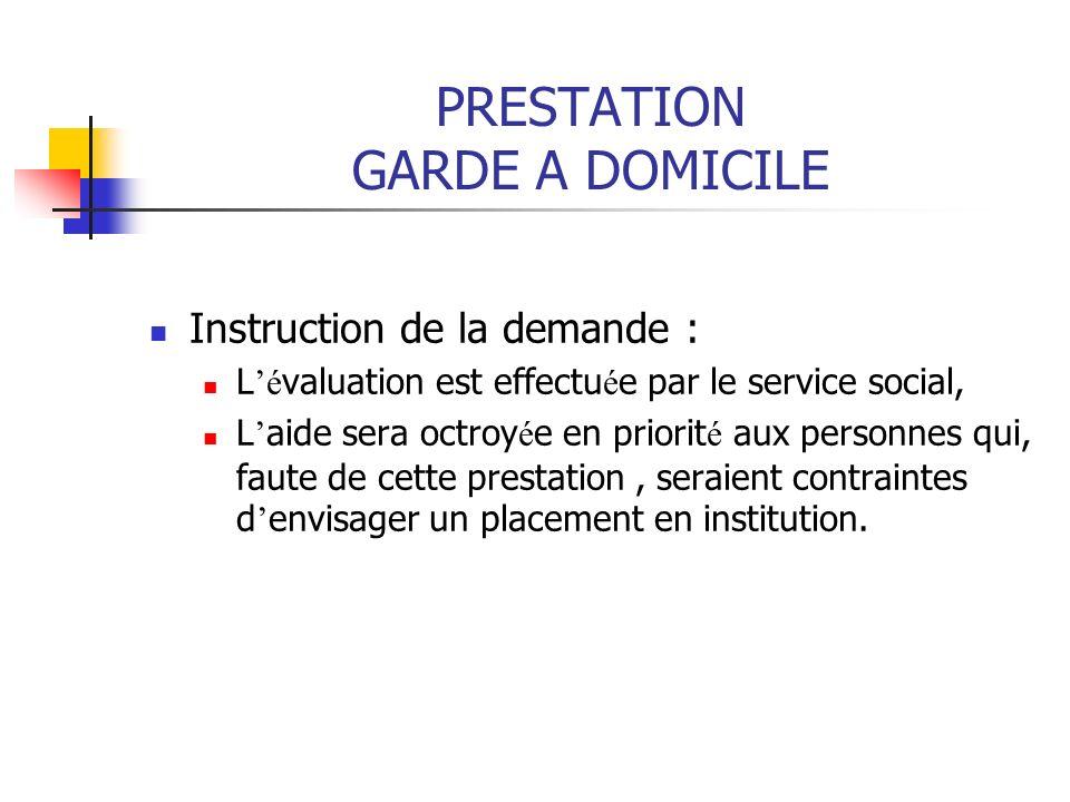 PRESTATION GARDE A DOMICILE