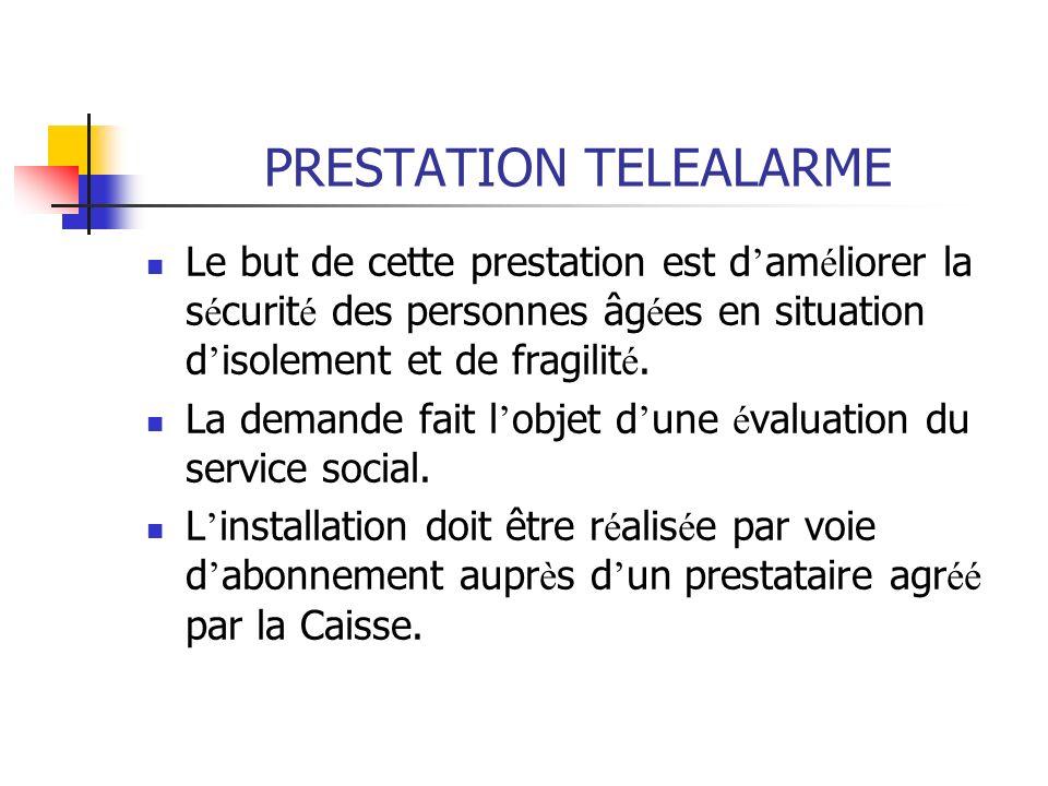 PRESTATION TELEALARME