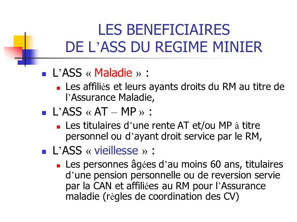 LES BENEFICIAIRES DE L'ASS DU REGIME MINIER