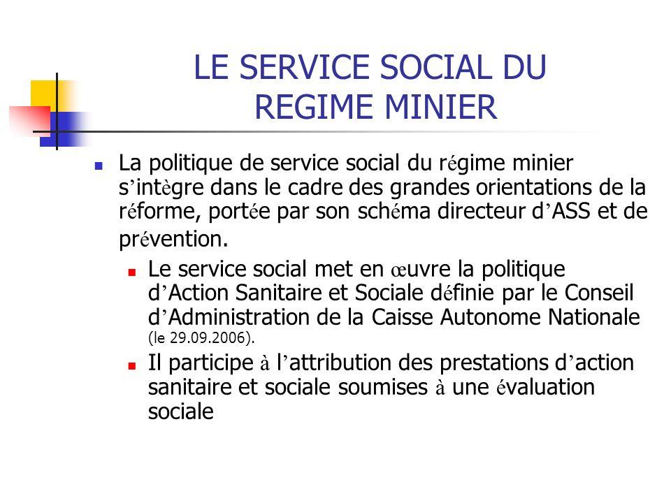 LE SERVICE SOCIAL DU REGIME MINIER